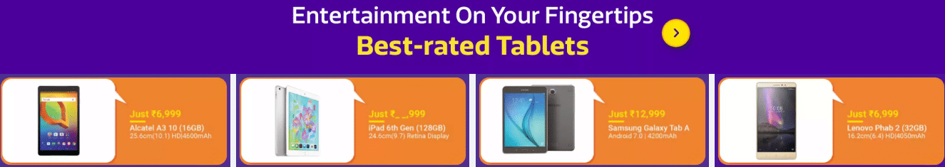 Amazon New Year Sale on Tablets