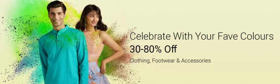 Flipkart Holi Sale on Clothes