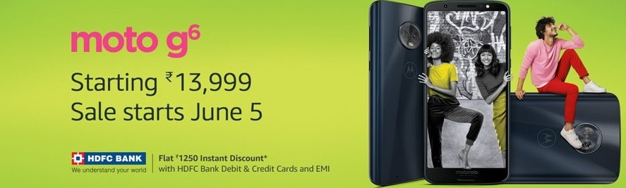Amazon Offers & Coupons for the all new Moto G6