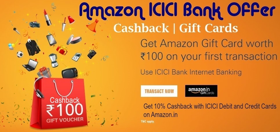 Details of Amazon ICICI Bank Offers