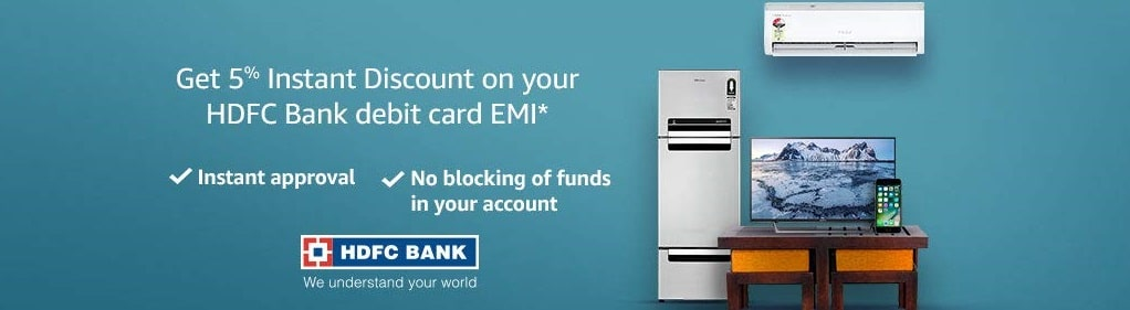 Amazon HDFC bank debit card EMI Offer