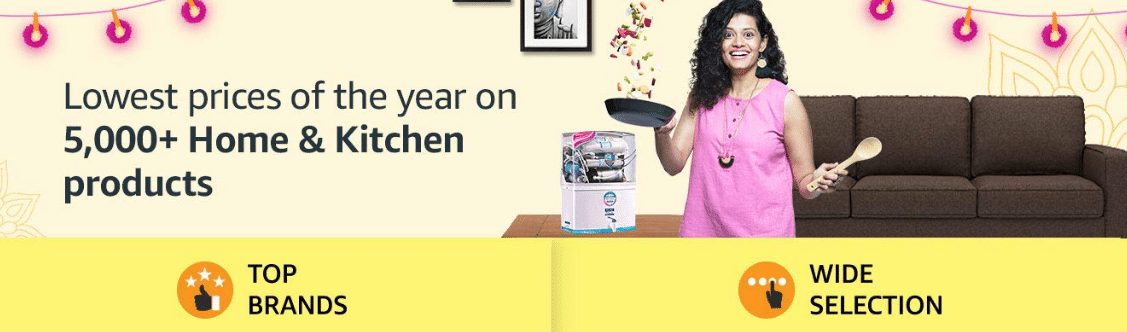 Amazon Diwali Offers on Home & Kitchen