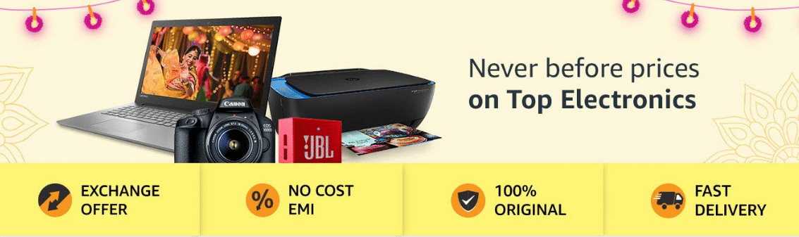 Amazon Diwali Offers on Electronics