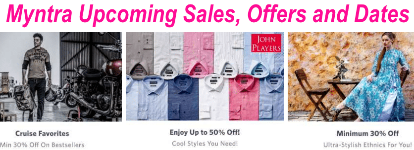 3c3abb0ff5 Myntra Upcoming Sales, Offers and Dates: July 2019 Coupons