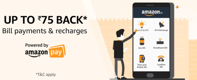 Amazon Cashback on bill payments