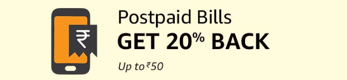 Amazon PostPaid Bill payment offer