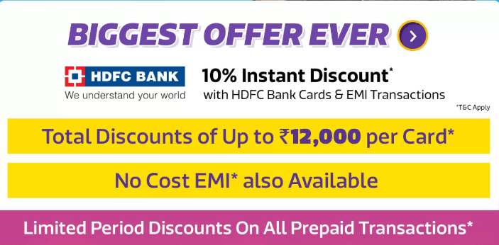 HDFC Bank Offer on Flipkart
