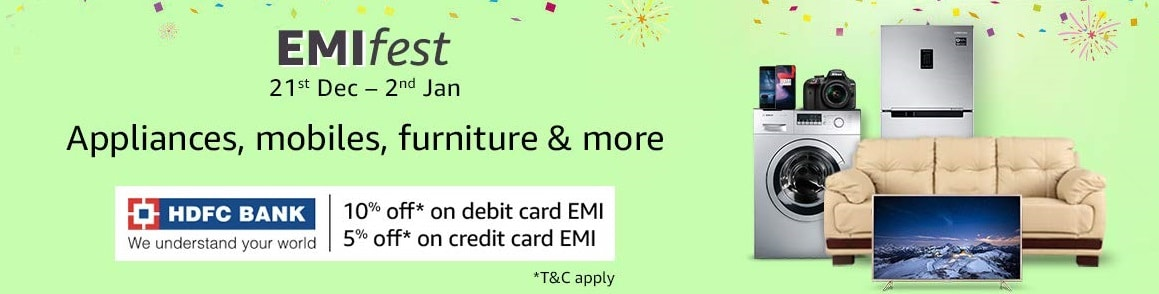 HDFC Bank Credit Card and Debit Card EMI has MORE DISCOUNTS Than EVER BEFORE!