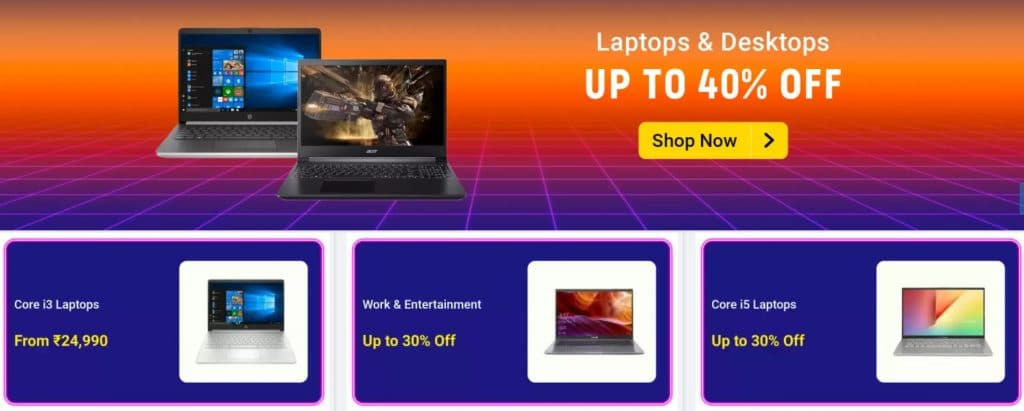 Amazon new year sale offers on laptops