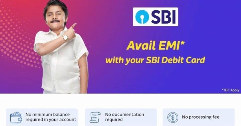 Avail Flipkart SBI debit card EMI