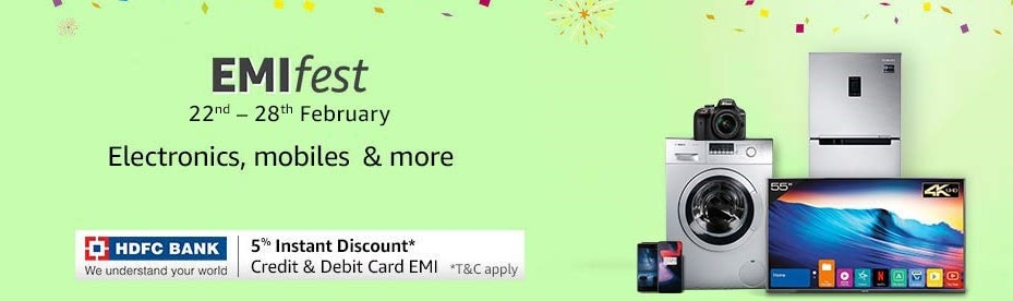 Amazon HDFC bank no cost emi offer
