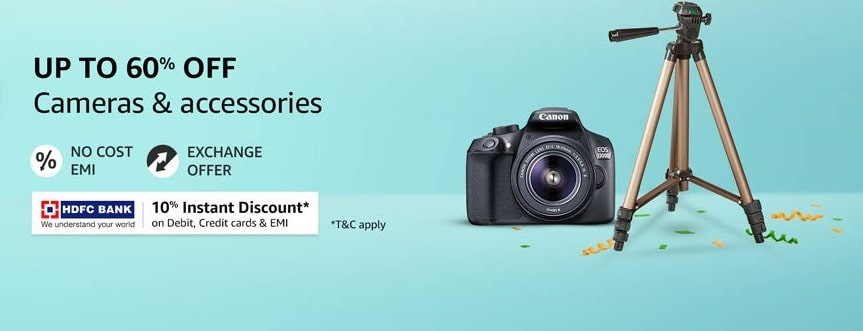 Amazon Great Indian Festival   10% Off on HDFC Bank Cards