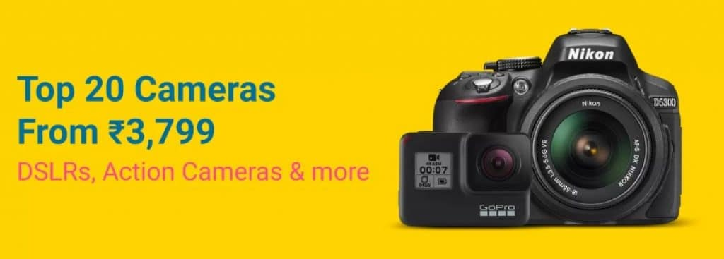 Flipkart Grand Gadget Days Sale Offers on Cameras