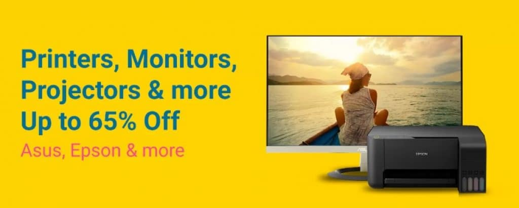 Grand Gadget Day Sale Offers on Printers and Monitors