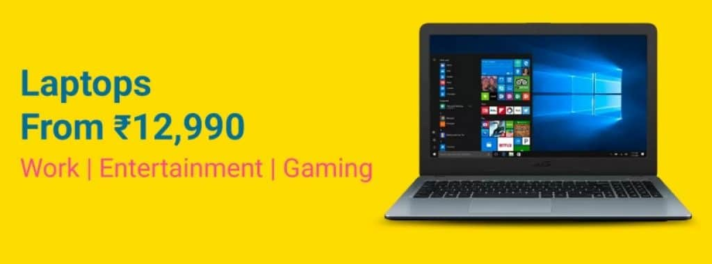 Flipkart Grand Gadget Days Offers on Laptops