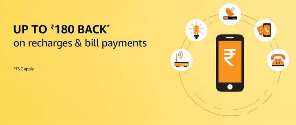 Amazon recharge and bill payment offers