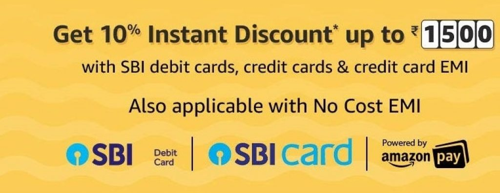 SBI Offer on Amazon India