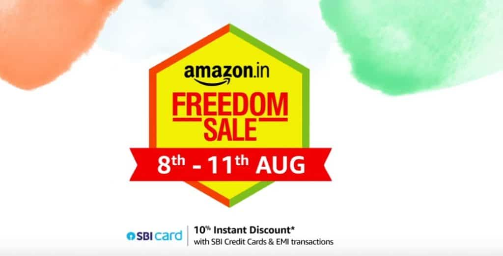 Amazon Great Indian Freedom Sale Offers: 8th to 11th August 2019
