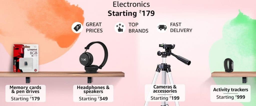 Amazon Great Indian Sale Offers on Electronics
