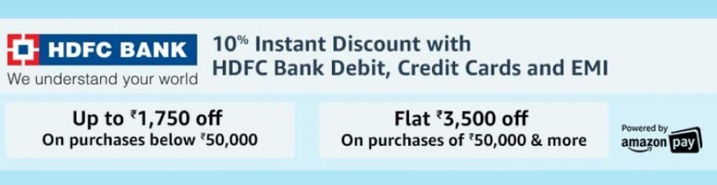 Amazon HDFC Bank Offers September 2019 : Get Rs 3500 Cashback