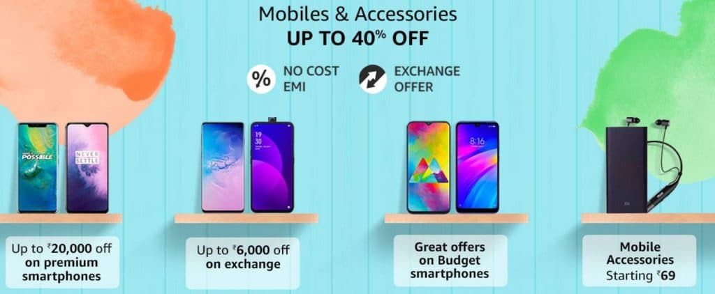 Amazon Great Indian Sale mobile offers