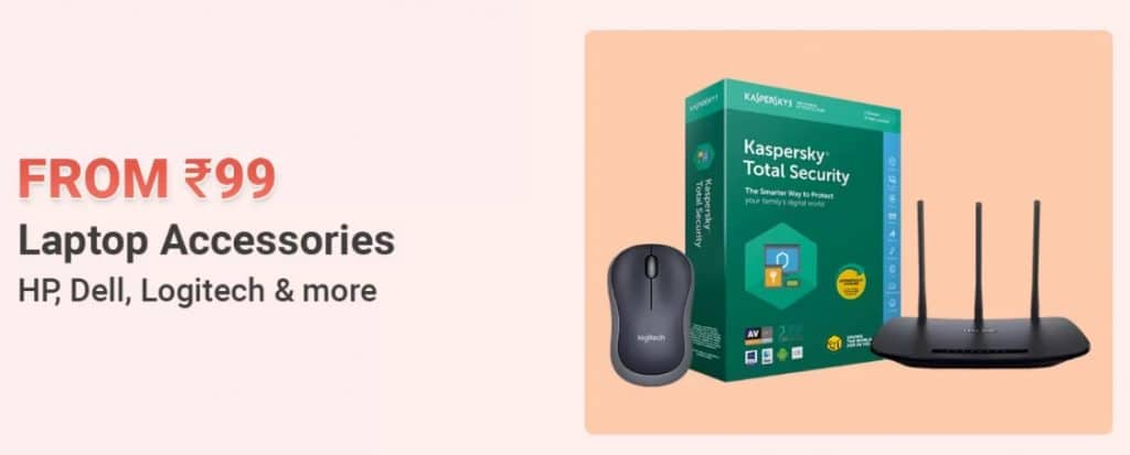 Flipkart top deals on laptop accessories