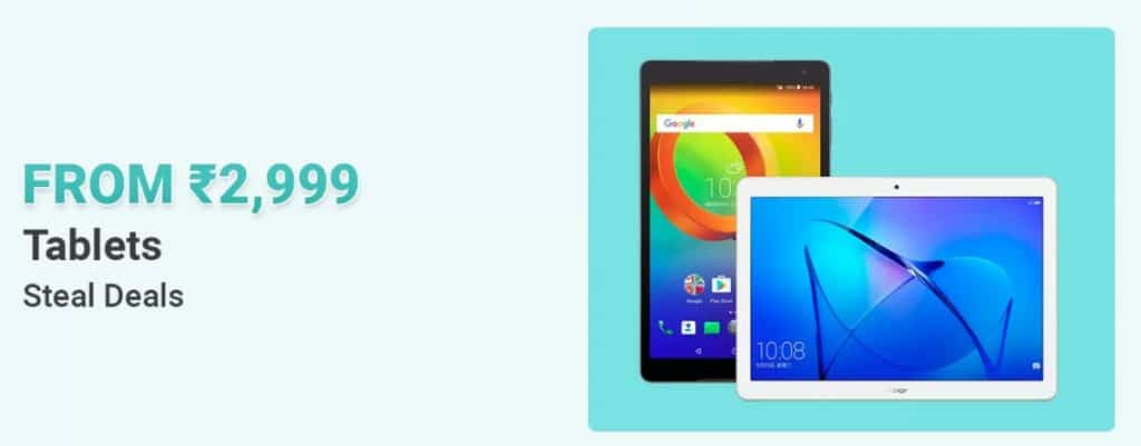 Flipkart biggest offers on tablets