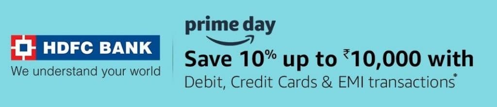Amazon prime day hdfc bank offer