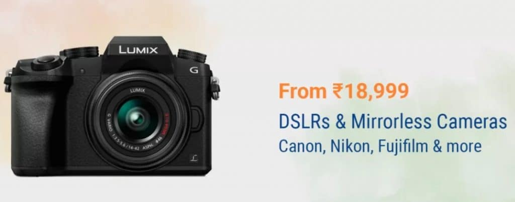 Flipkart Independence Day Sale Offers on Cameras