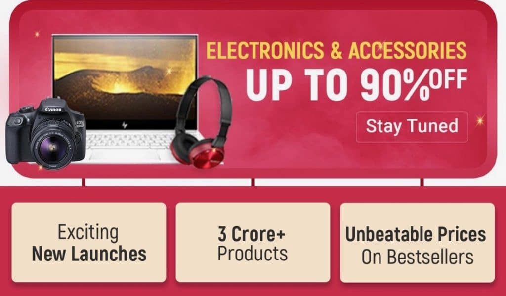 Flipkart Big Billion Days Sale Offers on Electronics