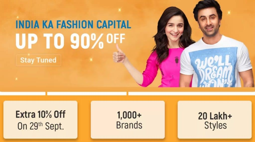 Flipkart Big Billion Days Sale Offers on Clothes