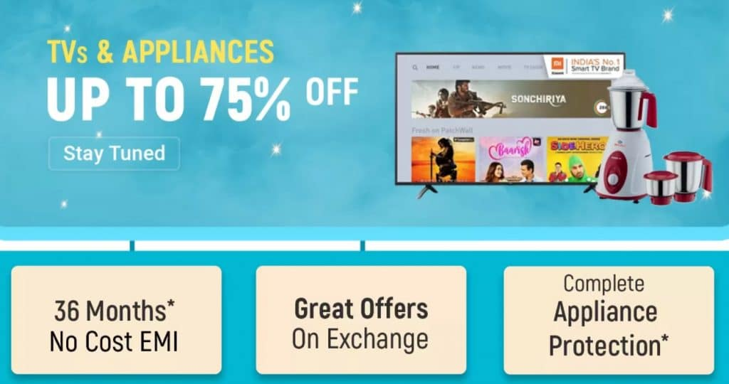 Flipkart Big Billion Days Offers on TVs & Appliances