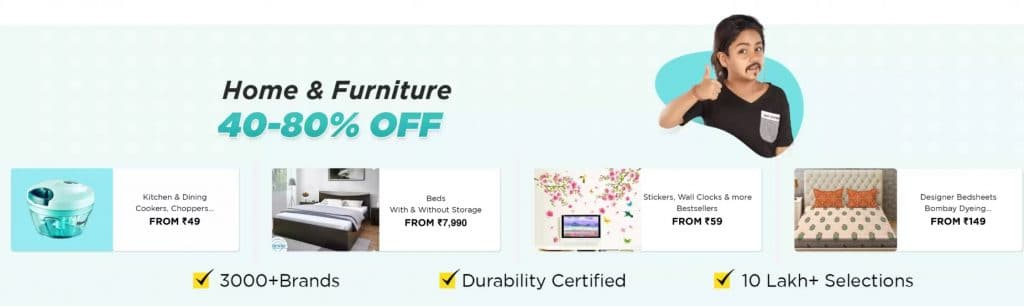 Flipstart day sale on Home & Furniture