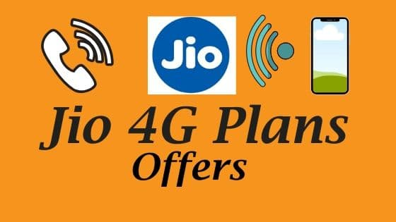 Jio 4G Data Plans and Offers