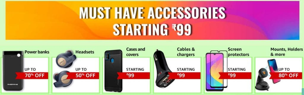 Amazon Offers on Mobile Accessories
