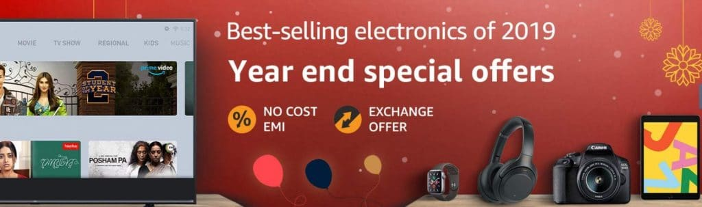 Amazon New Year Offers on Electronics
