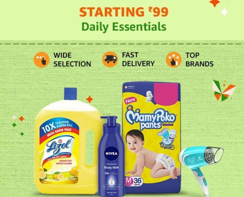 Amazon Sale Offers on Daily Essentials