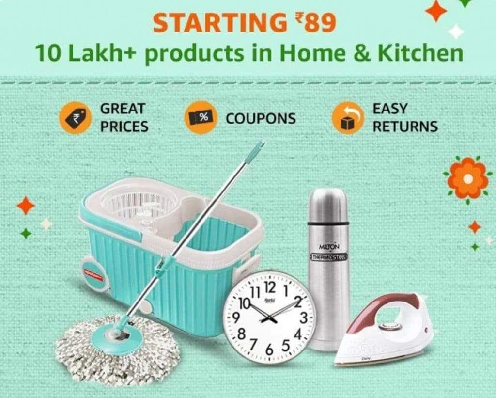 Amazon India discount offers on Home & Kitchen