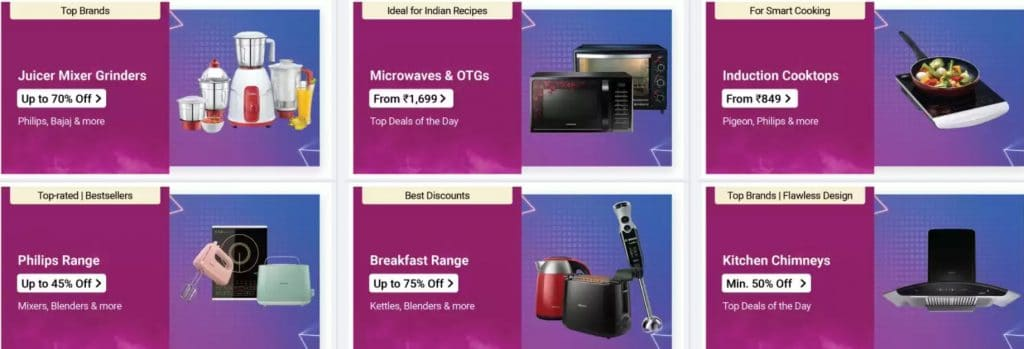 Flipkart Offers on Home Appliances
