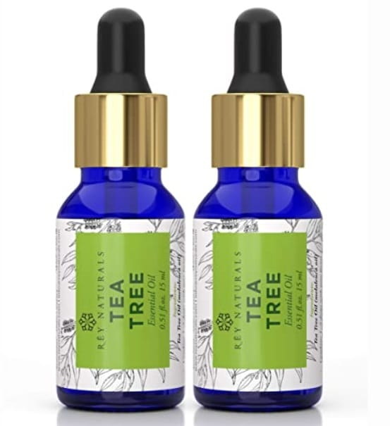 Rey Naturals Tea Tree Essential Oil for Aromatherapy
