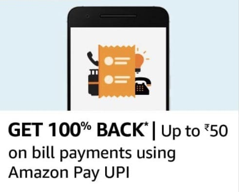 Amazon Pay UPI bill payment offer
