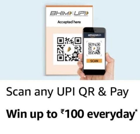 Amazon Pay Upi Scan and Pay Offer