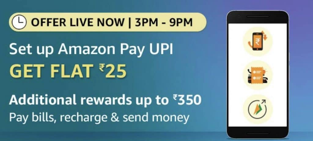 Set Up Amazon Pay UPI Offer