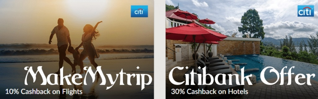 MakeMyTrip Citibank Debit & Credit Card Offers