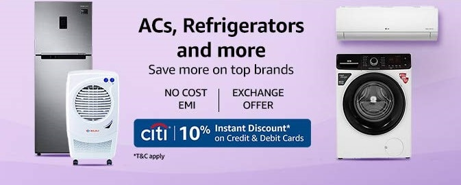Amazon Offers on ACs and Refrigerators