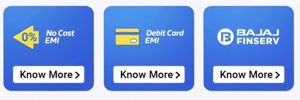 Flipkart big sale No cost emi and debit card emi offer