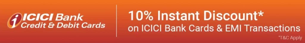 Flipkart ICICI bank credit and debit card offer