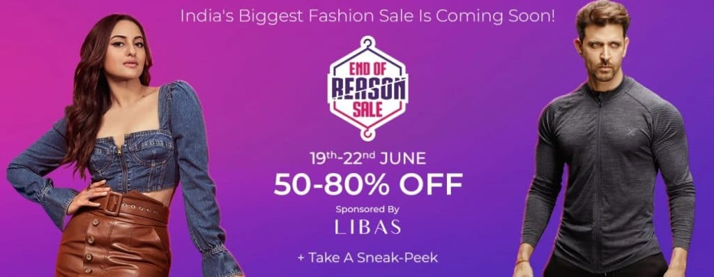 Myntra End of Reason Sale Offers (EORS)