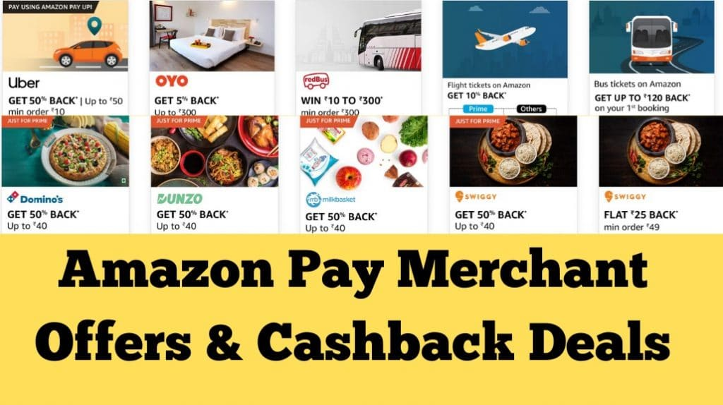 Amazon Merchant Offers & Cashback Deals