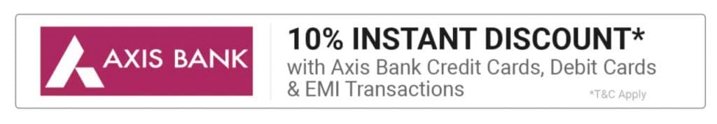 Axis bank offer on flipkart
